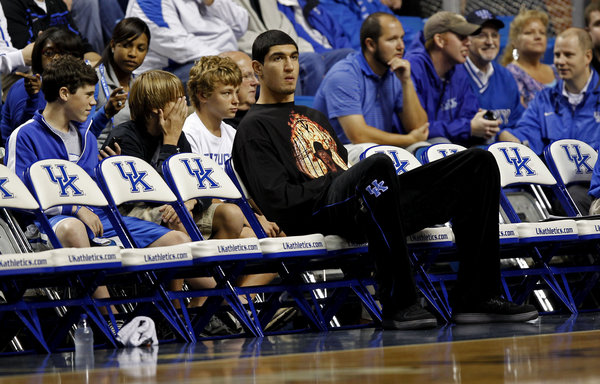 Enes Kanter was a student assistant at Kentucky.